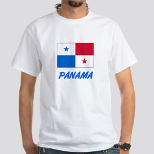 Panama Flag Artistic Blue Design T-Shirt